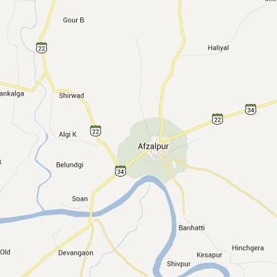 satellite map image of Afzalpur( Afzalpur,Karnataka ಉಪಗ್ರಹ ನಕ್ಷೆ ಚಿತ್ರ )