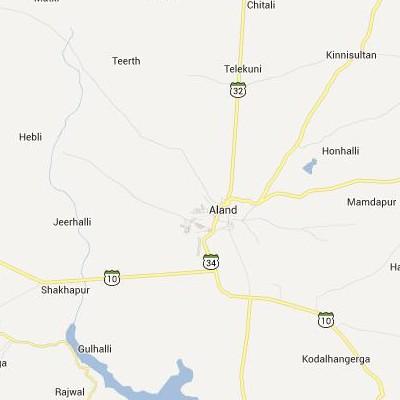 satellite map image of Aland( Aland,Karnataka ಉಪಗ್ರಹ ನಕ್ಷೆ ಚಿತ್ರ )