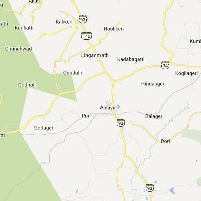 satellite map image of Alnavar( Alnavar,Karnataka ಉಪಗ್ರಹ ನಕ್ಷೆ ಚಿತ್ರ )