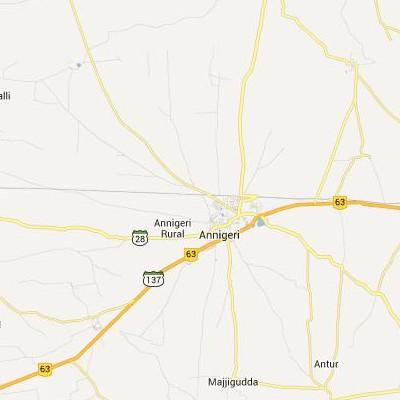 satellite map image of Annigeri( Annigeri,Karnataka ಉಪಗ್ರಹ ನಕ್ಷೆ ಚಿತ್ರ )
