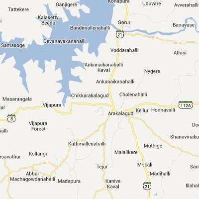 satellite map image of Arkalgud( Arkalgud,Karnataka ಉಪಗ್ರಹ ನಕ್ಷೆ ಚಿತ್ರ )