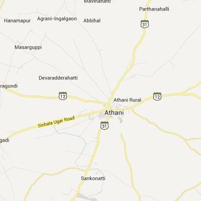 satellite map image of Athni( Athni,Karnataka ಉಪಗ್ರಹ ನಕ್ಷೆ ಚಿತ್ರ )