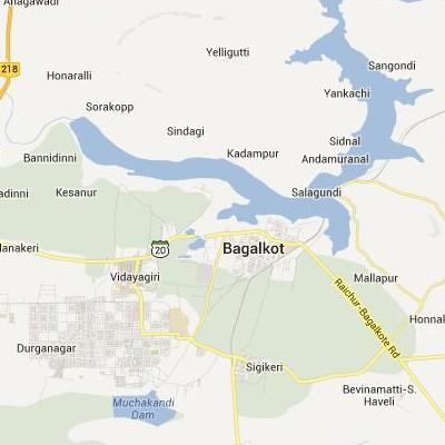 satellite map image of Bagalkot( Bagalkot,Karnataka ಉಪಗ್ರಹ ನಕ್ಷೆ ಚಿತ್ರ )