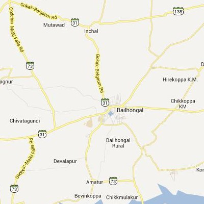 satellite map image of Bail Hongal( Bail Hongal,Karnataka ಉಪಗ್ರಹ ನಕ್ಷೆ ಚಿತ್ರ )