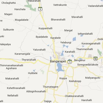 satellite map image of Bangarapet( Bangarapet,Karnataka ಉಪಗ್ರಹ ನಕ್ಷೆ ಚಿತ್ರ )