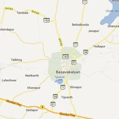 satellite map image of Basavakalyan( Basavakalyan,Karnataka ಉಪಗ್ರಹ ನಕ್ಷೆ ಚಿತ್ರ )