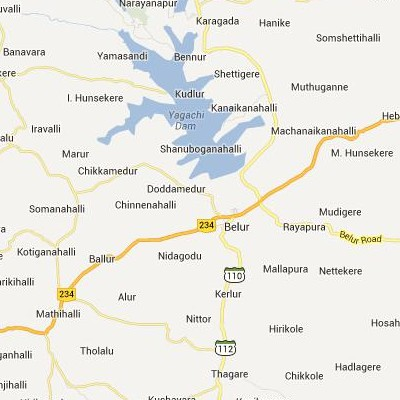 satellite map image of Belur( Belur,Karnataka ಉಪಗ್ರಹ ನಕ್ಷೆ ಚಿತ್ರ )