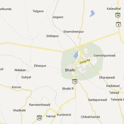 satellite map image of Bhalki( Bhalki,Karnataka ಉಪಗ್ರಹ ನಕ್ಷೆ ಚಿತ್ರ )