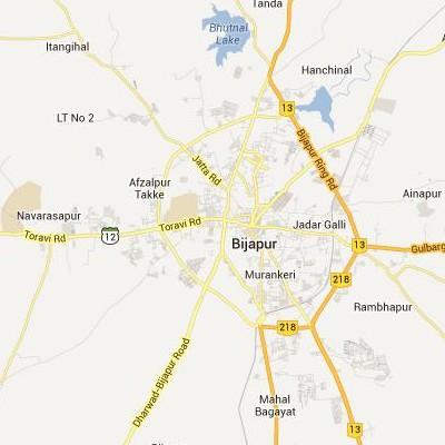 satellite map image of Bijapur( Bijapur,Karnataka ಉಪಗ್ರಹ ನಕ್ಷೆ ಚಿತ್ರ )