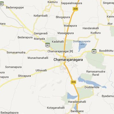 satellite map image of Chamrajnagar( Chamrajnagar,Karnataka ಉಪಗ್ರಹ ನಕ್ಷೆ ಚಿತ್ರ )