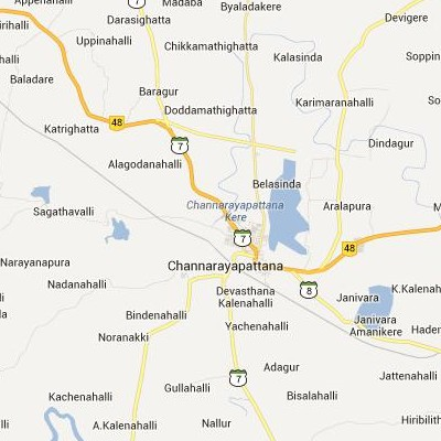 satellite map image of Channarayapatna( Channarayapatna,Karnataka ಉಪಗ್ರಹ ನಕ್ಷೆ ಚಿತ್ರ )