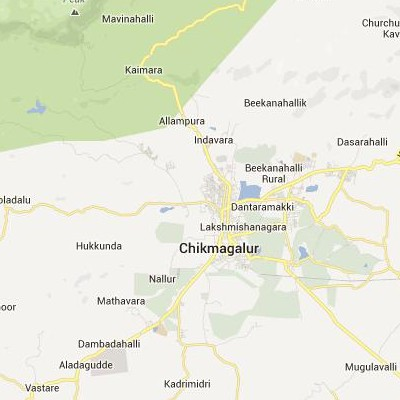 satellite map image of Chikmagalur( Chikmagalur,Karnataka ಉಪಗ್ರಹ ನಕ್ಷೆ ಚಿತ್ರ )