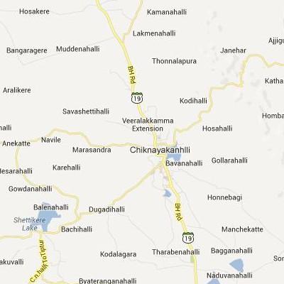 satellite map image of Chiknayakanhalli( Chiknayakanhalli,Karnataka ಉಪಗ್ರಹ ನಕ್ಷೆ ಚಿತ್ರ )