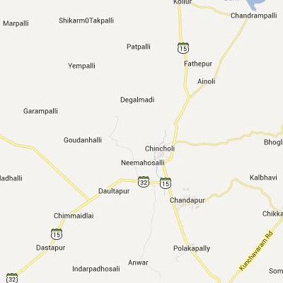 satellite map image of Chincholi( Chincholi,Karnataka ಉಪಗ್ರಹ ನಕ್ಷೆ ಚಿತ್ರ )