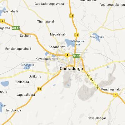 satellite map image of Chitradurga( Chitradurga,Karnataka ಉಪಗ್ರಹ ನಕ್ಷೆ ಚಿತ್ರ )