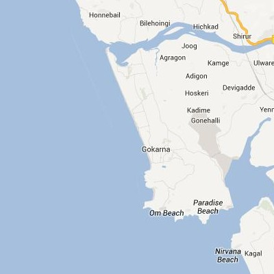 satellite map image of Gokarna( Gokarna,Karnataka ಉಪಗ್ರಹ ನಕ್ಷೆ ಚಿತ್ರ )