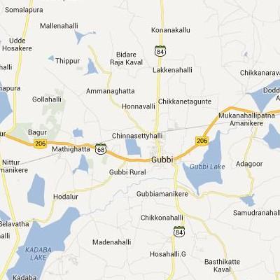 satellite map image of Gubbi( Gubbi,Karnataka ಉಪಗ್ರಹ ನಕ್ಷೆ ಚಿತ್ರ )