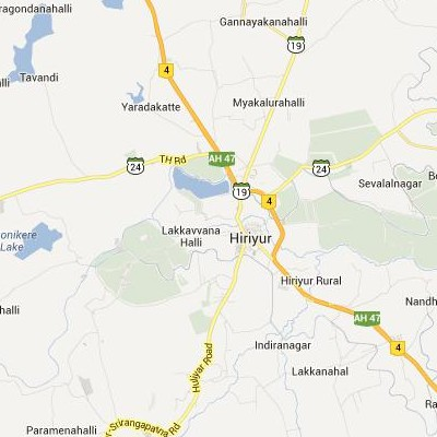 satellite map image of Hiriyur( Hiriyur,Karnataka ಉಪಗ್ರಹ ನಕ್ಷೆ ಚಿತ್ರ )