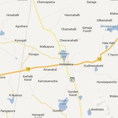 satellite map image of Holalkere( Holalkere,Karnataka ಉಪಗ್ರಹ ನಕ್ಷೆ ಚಿತ್ರ )