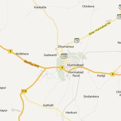 satellite map image of Homnabad( Homnabad,Karnataka ಉಪಗ್ರಹ ನಕ್ಷೆ ಚಿತ್ರ )