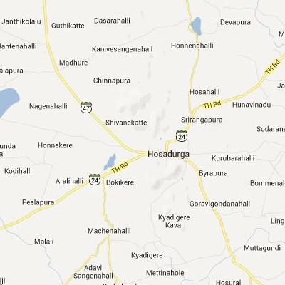 satellite map image of Hosdurga( Hosdurga,Karnataka ಉಪಗ್ರಹ ನಕ್ಷೆ ಚಿತ್ರ )