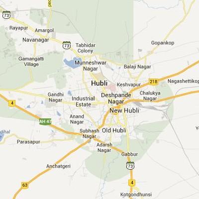 satellite map image of Hubli( Hubli,Karnataka ಉಪಗ್ರಹ ನಕ್ಷೆ ಚಿತ್ರ )