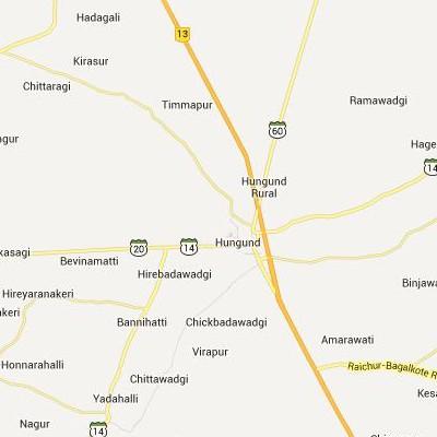 satellite map image of Hungund( Hungund,Karnataka ಉಪಗ್ರಹ ನಕ್ಷೆ ಚಿತ್ರ )