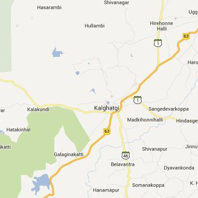 satellite map image of Kalghatgi( Kalghatgi,Karnataka ಉಪಗ್ರಹ ನಕ್ಷೆ ಚಿತ್ರ )