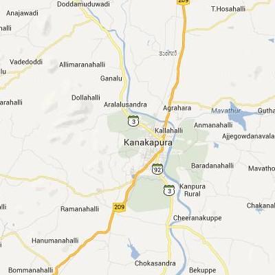satellite map image of Kanakapura( Kanakapura,Karnataka ಉಪಗ್ರಹ ನಕ್ಷೆ ಚಿತ್ರ )