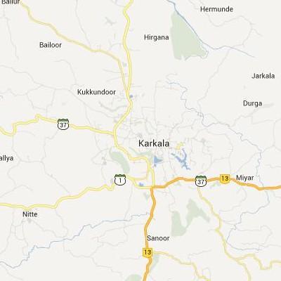 satellite map image of Karkal( Karkal,Karnataka ಉಪಗ್ರಹ ನಕ್ಷೆ ಚಿತ್ರ )