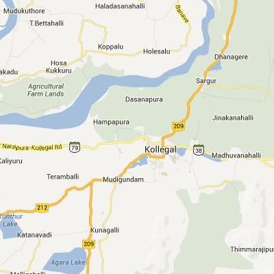 satellite map image of Kollegal( Kollegal,Karnataka ಉಪಗ್ರಹ ನಕ್ಷೆ ಚಿತ್ರ )