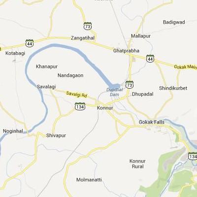 satellite map image of Konnur( Konnur,Karnataka ಉಪಗ್ರಹ ನಕ್ಷೆ ಚಿತ್ರ )