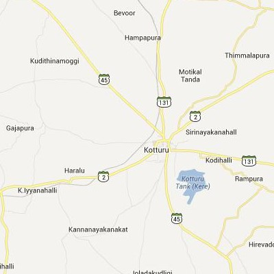 satellite map image of Kotturu( Kotturu,Karnataka ಉಪಗ್ರಹ ನಕ್ಷೆ ಚಿತ್ರ )