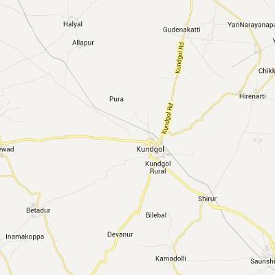 satellite map image of Kundgol( Kundgol,Karnataka ಉಪಗ್ರಹ ನಕ್ಷೆ ಚಿತ್ರ )