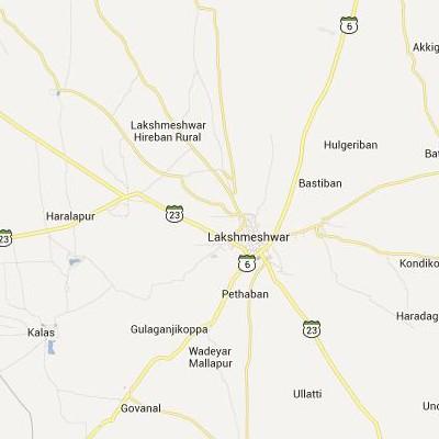 satellite map image of Lakshmeshwar( Lakshmeshwar,Karnataka ಉಪಗ್ರಹ ನಕ್ಷೆ ಚಿತ್ರ )