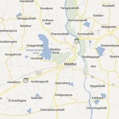 satellite map image of Maddur( Maddur,Karnataka ಉಪಗ್ರಹ ನಕ್ಷೆ ಚಿತ್ರ )