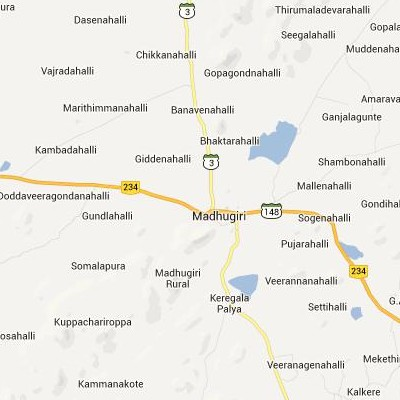 satellite map image of Madhugiri( Madhugiri,Karnataka ಉಪಗ್ರಹ ನಕ್ಷೆ ಚಿತ್ರ )