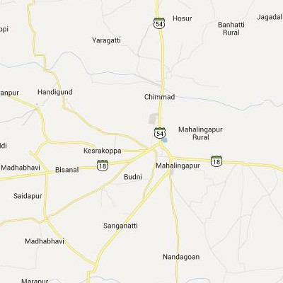 satellite map image of Mahalingpur( Mahalingpur,Karnataka ಉಪಗ್ರಹ ನಕ್ಷೆ ಚಿತ್ರ )