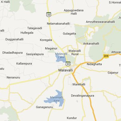 satellite map image of Malavalli( Malavalli,Karnataka ಉಪಗ್ರಹ ನಕ್ಷೆ ಚಿತ್ರ )