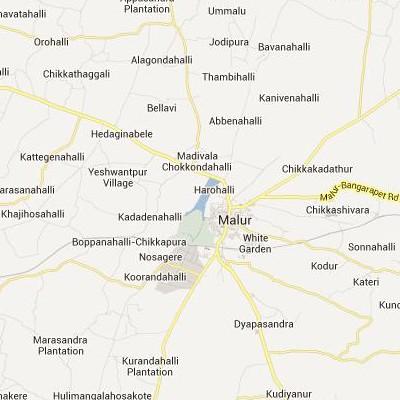 satellite map image of Malur( Malur,Karnataka ಉಪಗ್ರಹ ನಕ್ಷೆ ಚಿತ್ರ )