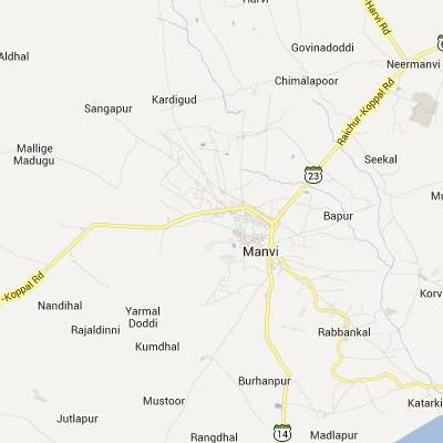 satellite map image of Manvi( Manvi,Karnataka ಉಪಗ್ರಹ ನಕ್ಷೆ ಚಿತ್ರ )