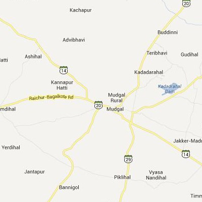 satellite map image of Mudgal( Mudgal,Karnataka ಉಪಗ್ರಹ ನಕ್ಷೆ ಚಿತ್ರ )