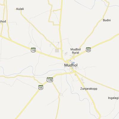 satellite map image of Mudhol( Mudhol,Karnataka ಉಪಗ್ರಹ ನಕ್ಷೆ ಚಿತ್ರ )