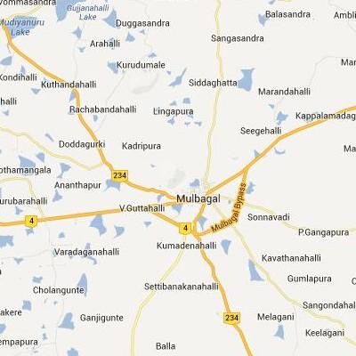 satellite map image of Mulbagal( Mulbagal,Karnataka ಉಪಗ್ರಹ ನಕ್ಷೆ ಚಿತ್ರ )