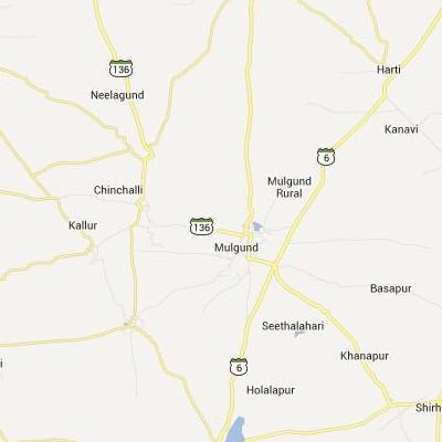 satellite map image of Mulgund( Mulgund,Karnataka ಉಪಗ್ರಹ ನಕ್ಷೆ ಚಿತ್ರ )