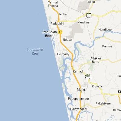 satellite map image of Mulki( Mulki,Karnataka ಉಪಗ್ರಹ ನಕ್ಷೆ ಚಿತ್ರ )