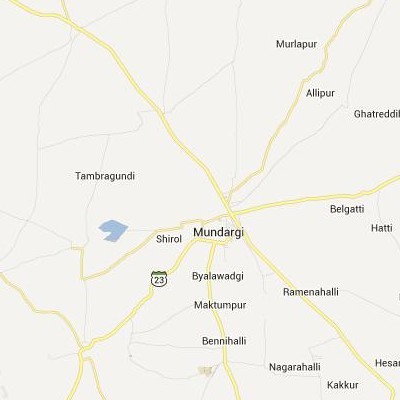 satellite map image of Mundargi( Mundargi,Karnataka ಉಪಗ್ರಹ ನಕ್ಷೆ ಚಿತ್ರ )