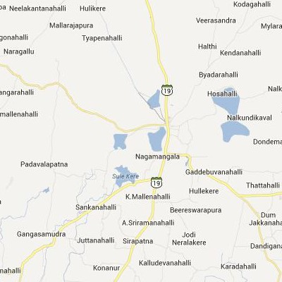 satellite map image of Nagamangala( Nagamangala,Karnataka ಉಪಗ್ರಹ ನಕ್ಷೆ ಚಿತ್ರ )