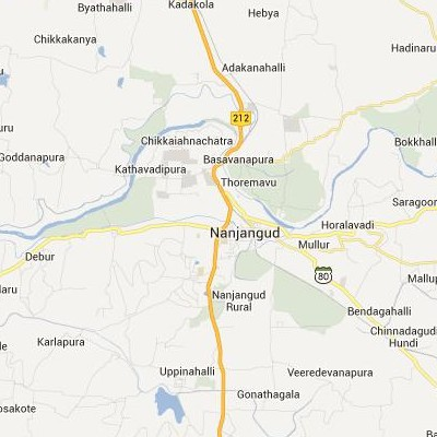 satellite map image of Nanjangud( Nanjangud,Karnataka ಉಪಗ್ರಹ ನಕ್ಷೆ ಚಿತ್ರ )