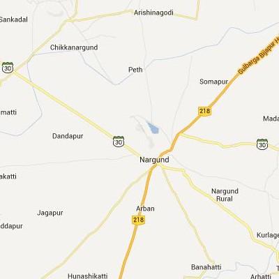 satellite map image of Nargund( Nargund,Karnataka ಉಪಗ್ರಹ ನಕ್ಷೆ ಚಿತ್ರ )